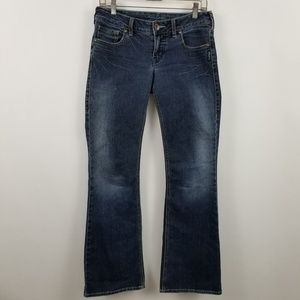 Silver Aiko Boot Cut Womens Dark Wash Blue Jeans